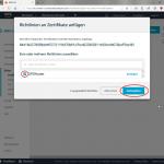 AWS MQTT Richtlinie an Zertifikat 2