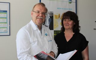 DMK Plant-Manager H. M. Lohmann and Quality-Manager Mandy Kriesen